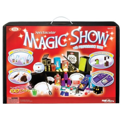 magic kit with over 100 tricks to keep your child entertained for hours. Let them learn all the magic and test their skills with this magic show kit. For more great gifts for kids, visit adventuresofb2.com