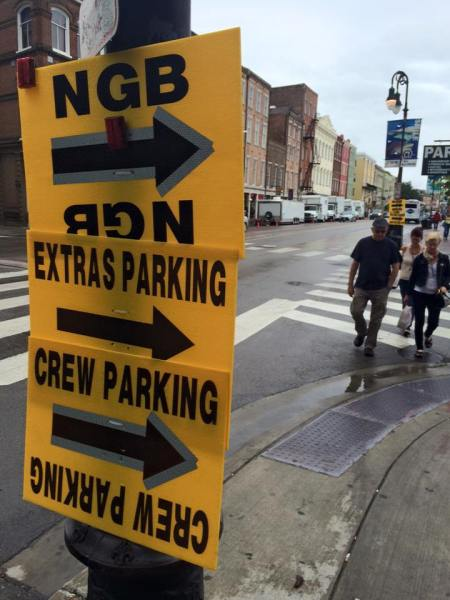 movie filming signs in new orleans