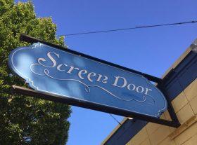 screen door restaurant sign in portland