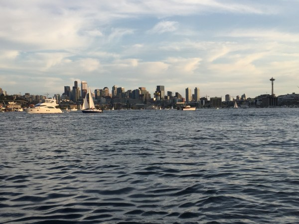 seattle skyline on the water