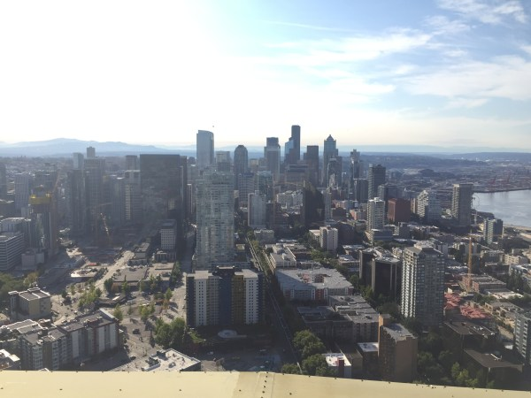 space needle sky views