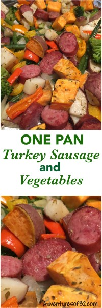 One pan sausage and vegetables