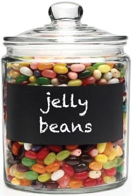 chalkboard candy jar