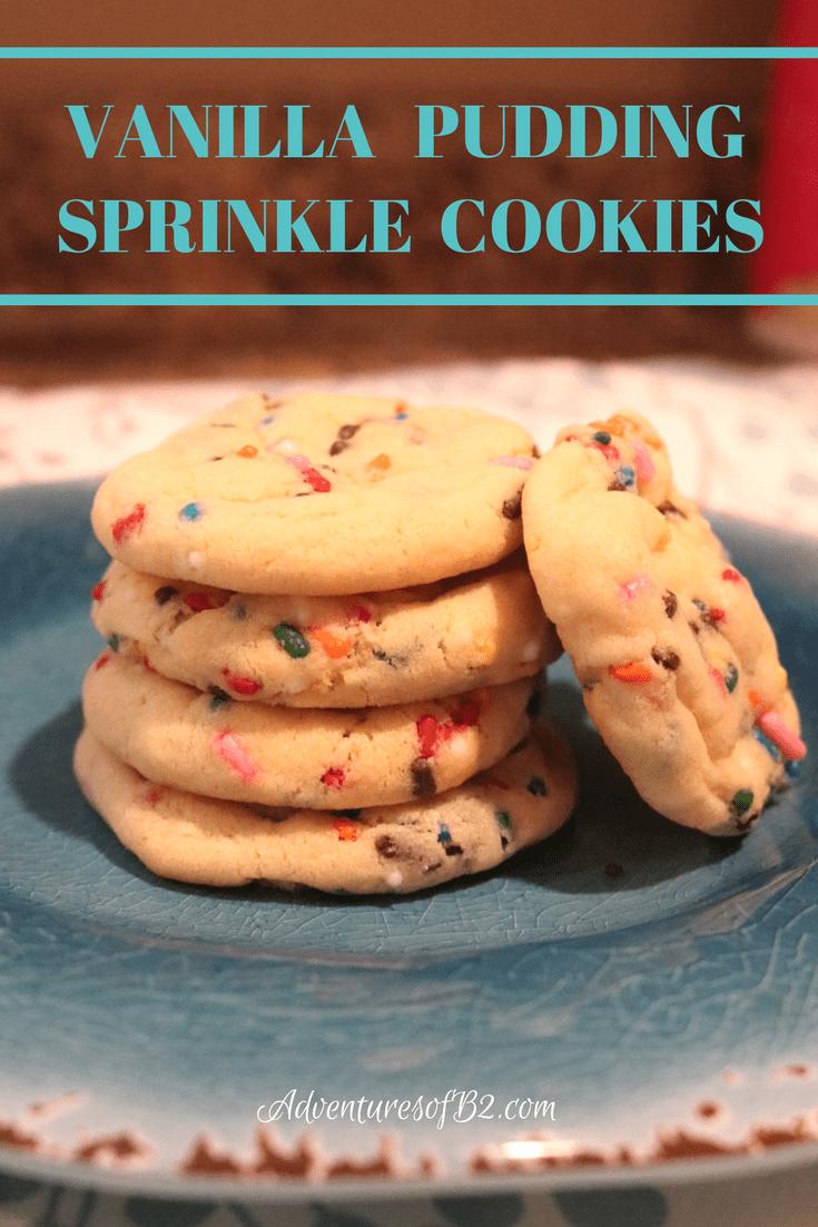 Vanilla Pudding Sprinkle Cookies