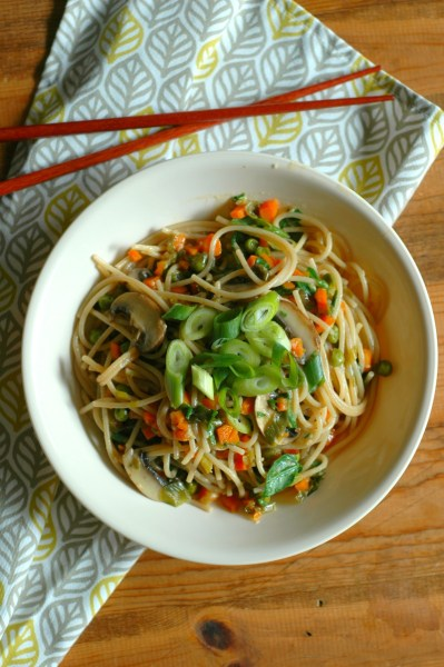 vegetable lo mein from raising generations nourished
