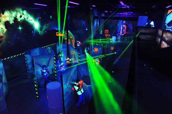 Laser tag was a fast paced date idea. Run around like a kid but be careful not to get hit by the laser beam.