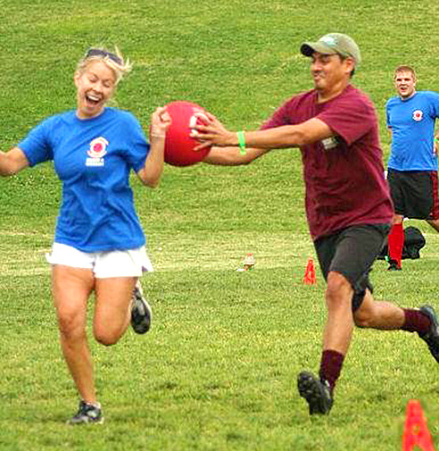 kickball from judeatl.com- a perfect group date idea for get outside and staying active!