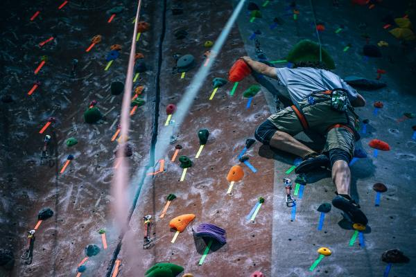 Take your spouse on a rock climbing date for an active date idea. There's many options from easy to difficult to help raise those heartbeats and work up a sweat