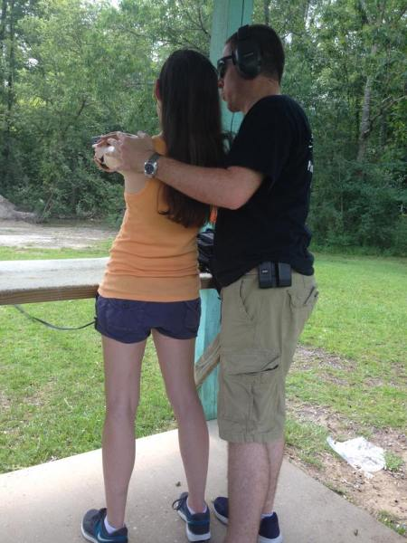 Take your partner to the shooting range as a fun active date idea. Learn safety tips and get your concealed carry license.