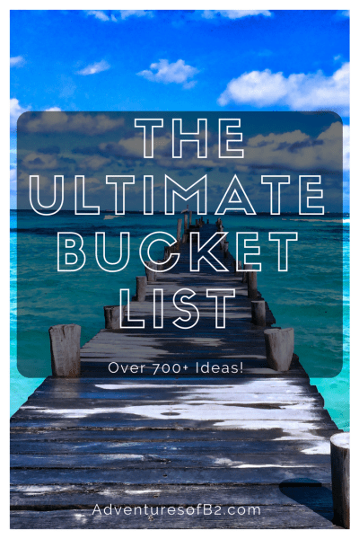 Want to start a bucket list? Here are over 700 ideas to help get you started on accomplishing goals and living the fullest life!