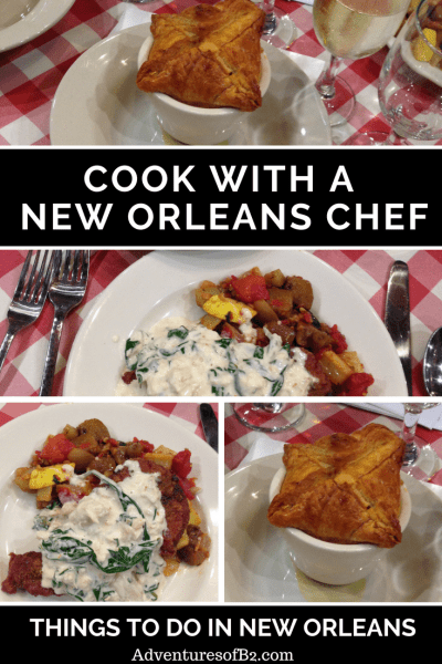 Visiting New Orleans or looking for something to spice up date night? Try cooking with a chef at the new orleans school of cooking. Have fun making new orleans style dishes and then devouring your creation afterwards- adventuresofb2