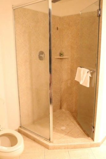 A bathroom shower at the Dreams Delight Playa Bonita in Panama City, Panama. Learn all the top tips on making your trip successful.