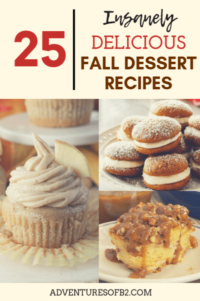 25 insanely delicious fall dessert recipes that are mouthwater desserts that perfect for holiday parties or to feed a crowd!