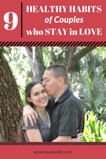 Here are 9 healthy habits that couples do to stay in love. Hear advice from strong married couples who learned all the tips and tricks to keeping their marriage strong and healthy. #marriage #relationships #advice #couples #love
