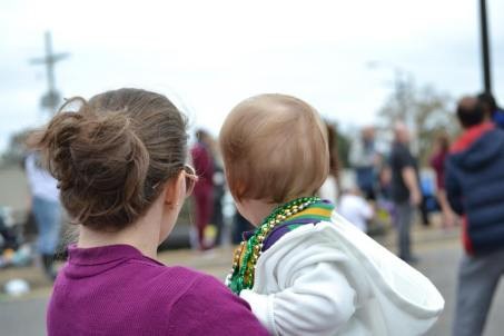 Baby's first Mardi Gras enjoying all the colorful floats and flashing lights! But for parents, it can be a bit overwhelming bring your kid(s) to Mardi Gras parades in New Orleans. Learn how to make the most out your trip at adventuresofb2.com