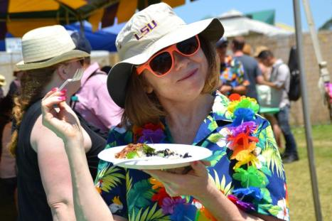 Try all the delicious food at New Orleans Jazz Fest. Try all their unique delicious food items, enjoy the live music, and experience the culture here in New Orleans, LA.