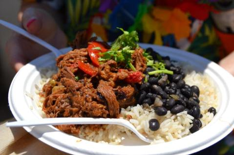 Some of the delicious food you can get at jazzfest. See everything available at Jazz Fest at adventuresofb2.com