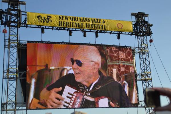 Listen to live music of all different genres at the New Orleans Jazz Fest. See more information here at adventuresofb2.com