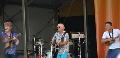 Jimmy Buffett performing at the New Orleans Jazz Fest. One of the top New Orleans festivals that showcase musics of all genres, unique food from different cultures and artworks from all over the world. Check out more at Adventuresofb2.com