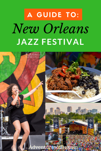 One of the top New Orleans festivals is Jazz Fest. Come enjoy live music from all different genres, eat food from many different cultures and shop local businesses for their gorgeous artwork and jewelry. See everything you need for trip to be successful here.- Adventuresofb2.com