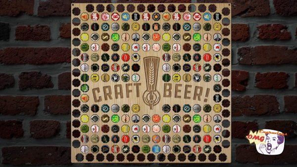 Great gift idea for him. A customized beer cap holder that's perfect for any man cave or bar area. Showcase all the craft beers you've tried by displaying them on your wall with this wooden beer cap holder. See more gift ideas at adventuresofb2.com