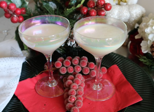 Turtle Doves cocktail is a fantastic holiday party drink. Full of flavors of vanilla, amaretto and a hint of nutty for an overall delicious drink!