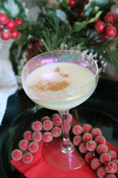 Turtle Doves cocktail is a delightful holiday recipe! With vanilla, amaretto, with a hint of nutty flavor topped with some whip cream and nutmeg for a delicious Christmas cocktail.