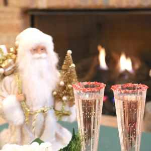 Peppermint Spritzer is a light minty Christmas cocktail made with peppermint schnapps, creme de cacao and champagne. A delightful cocktail to share at your next holiday party