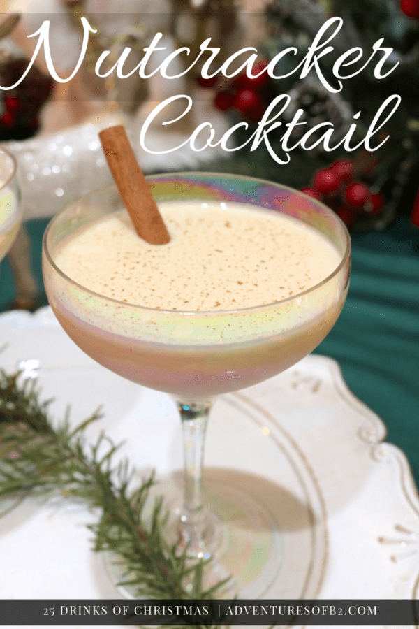 Nutcracker cocktail is so delicious, creamy and smooth. Frangelico adds that touch of hazelnut flavor making it all things Christmas! Serve these delicious dessert cocktails at your next holiday party for the ultimate treat! #frangelico #hazelnut #dessertcocktail #christmasdrinks