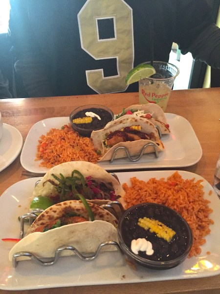 The red pepper taquiera in atlanta has delicious tacos and fabulous Mardi Gras. A great place to eat when visiting Atlanta. See more great places to eat at Adventuresofb2.com