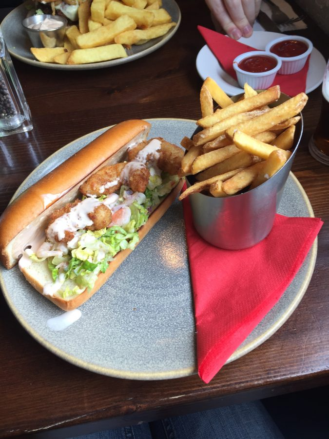 While in Limerick, stop for some lunch at the Curragower right in the heart of the city. - Adventuresofb2.com