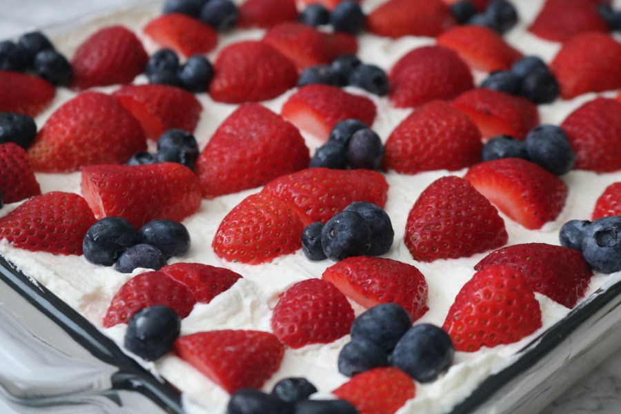 Fresh and delicious Strawberry Icebox Cake is a easy no-bake, one-pan dessert that is made with only 3 ingredients! Pretty as it is tasty. It a quick, perfect dessert for any party!- Adventures of B2