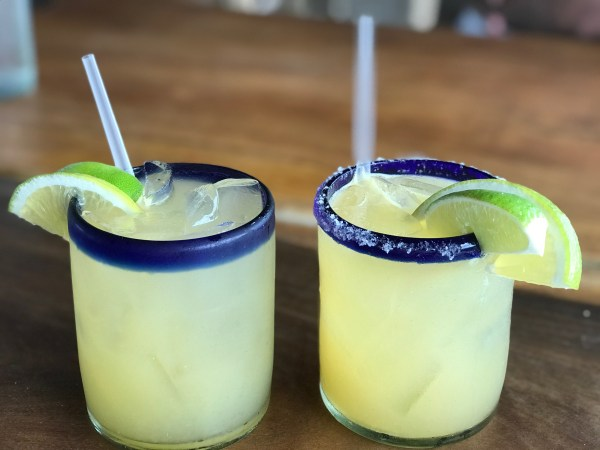 Two margaritas at the Andaz Mayakoba Resort