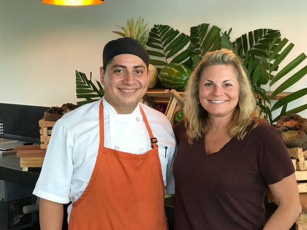 Me and Chef Carlos Ivan at the Andaz Mayakoba Resort.
