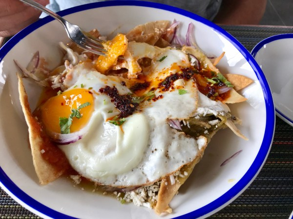 Chilaquiles at the Andaz Mayakoba Resort.