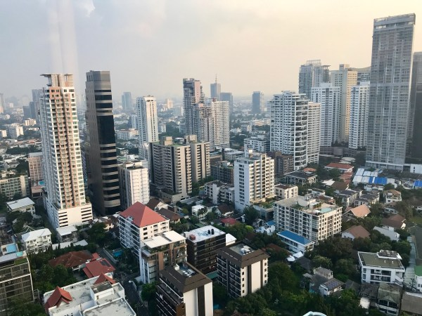 My view of Bangkok from the 35th floor of the Marriott Marquis in Bangkok is one of the Ten reasons to visit Thailand.