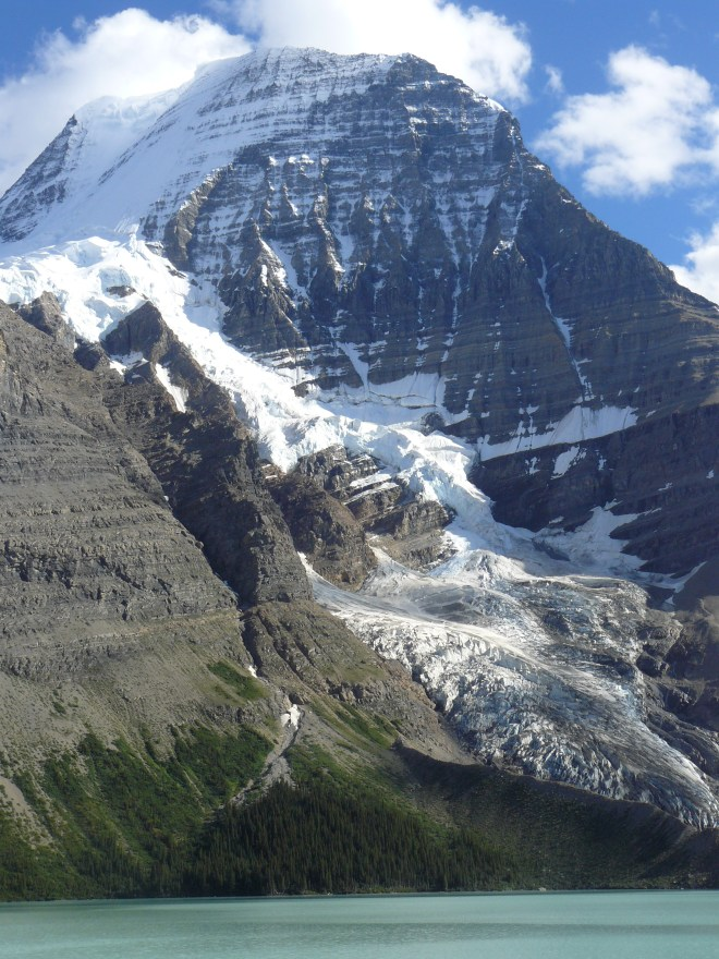 Mt. Robson, Berg Lake & the Mist Glacier.