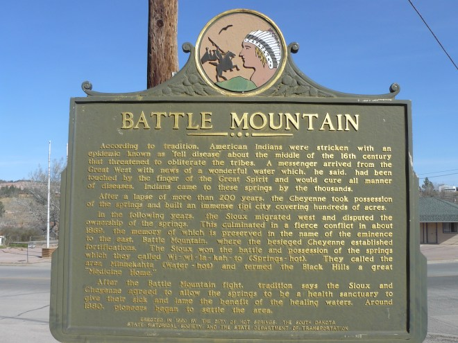 Battle Mountain plaque