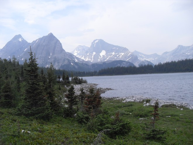 A look back at Lawson Lake on the return journey.