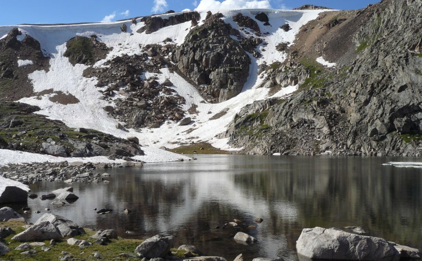 Frozen Lake to Heart Lake, Beartooth Mountains (7-14-13)