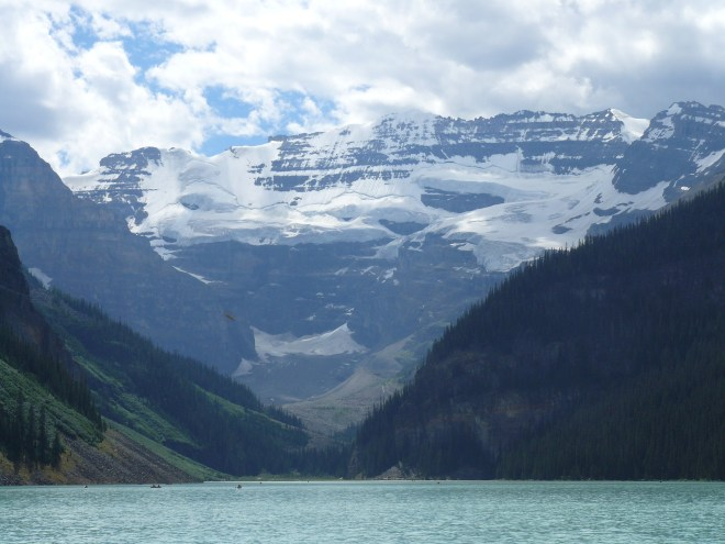 Mount Victoria (11,375 ft.) from Lake Louise.