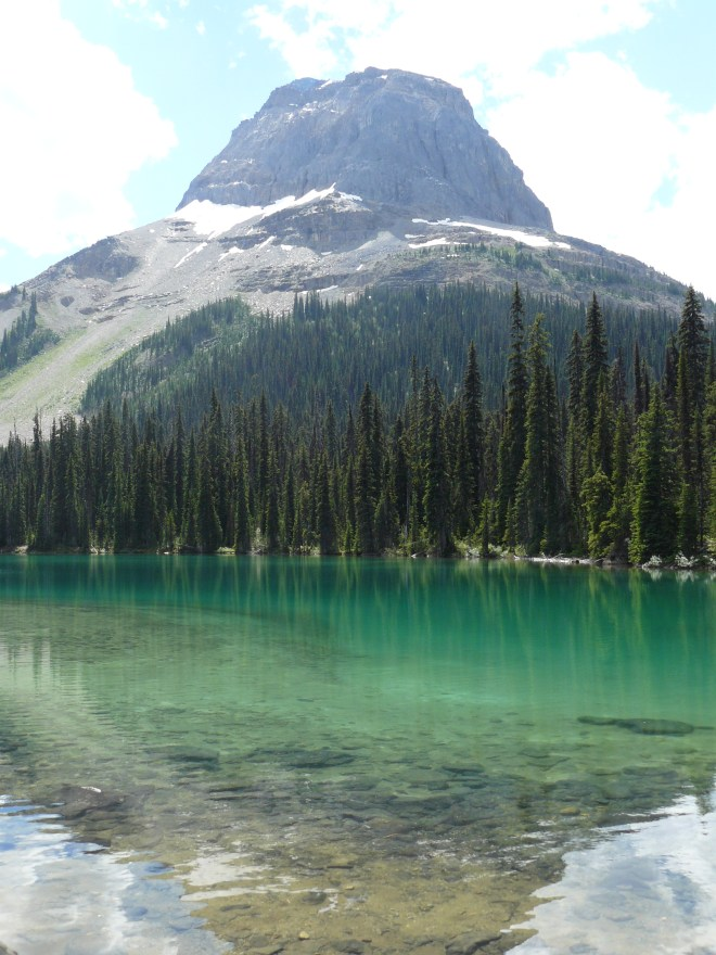 Wapta Mountain from Yoho Lake. Photo looks SSE.