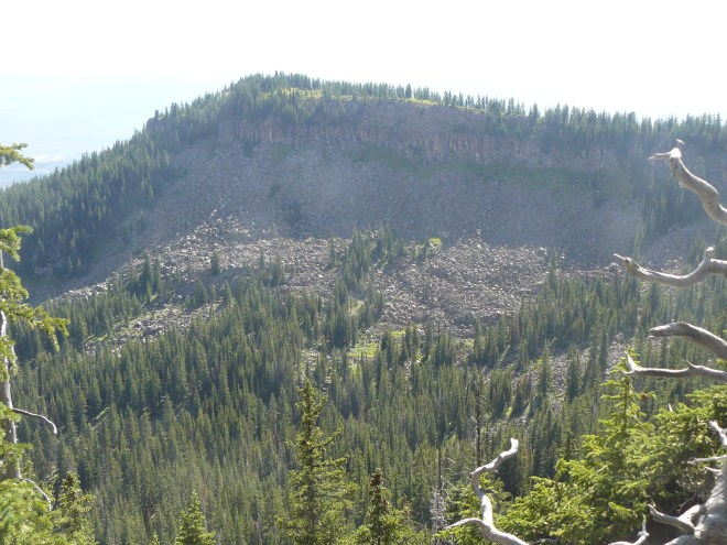 The high ridge that extends S from the W portion of Black Mountain. Lupe did not explore any farther in that direction.