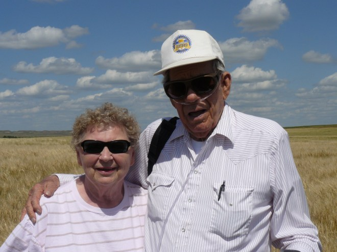 Andy & Connie at the farm near Beach, ND 8-3-15