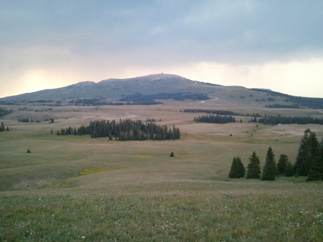 Medicine Mountain from Bald Mountain, Bighorn Mountains, WY 8-9-12