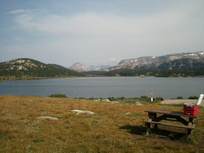 Island Lake in the Beartooth Mountains. Photo looks NNW.
