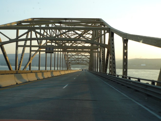 Lupe crossed the Columbia River on this I-90 bridge.