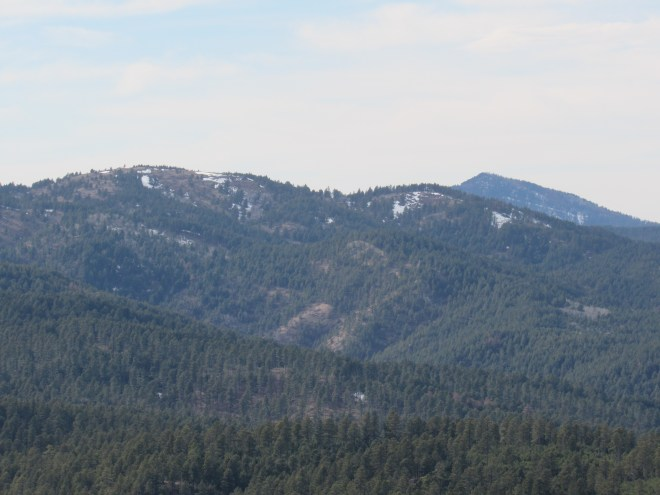 Polo Peak (5,410 ft.) (L) and Crow Peak (5,787 ft.) (R in distance). Photo looks W.