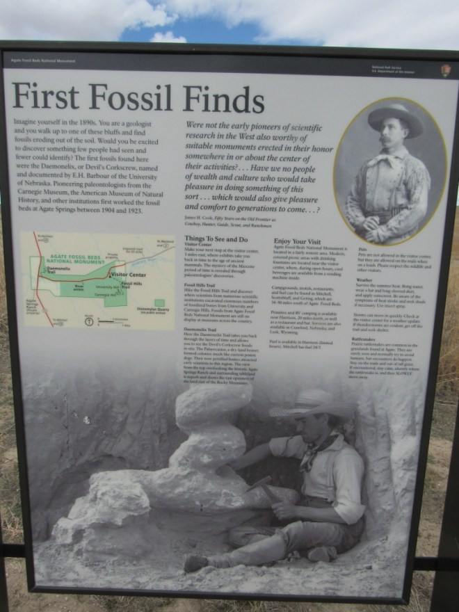 Information near the start of the 1 mile long Daemonelix Trail near the entrance.