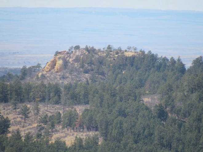 Yellow Butte from Surveyor's Hill using the telephoto lens. Photo looks WNW.
